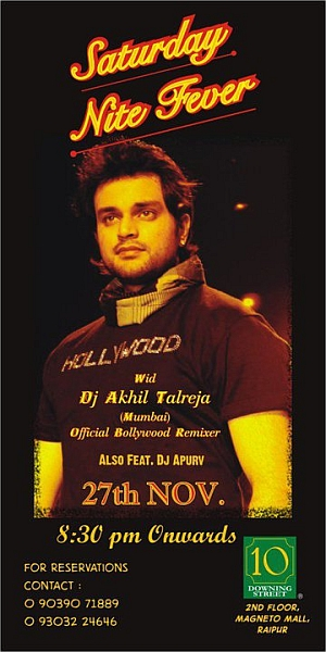 DJ Akhil Talreja at 10 D, Raipur on 27th Nov 2010