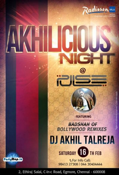 DJ Akhil Talreja in Chennai at Pulse Radisson Blu on 16th Feb'13