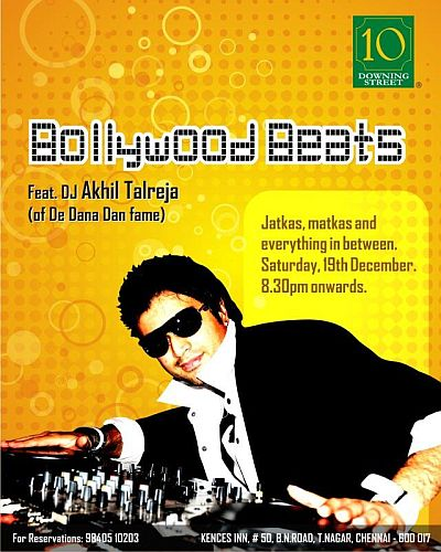 DJ Akhil Talreja at 10 Downing St. 19th Dec 2009