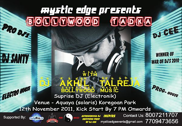 DJ Akhil Talreja at Solaris, Pune in Nov