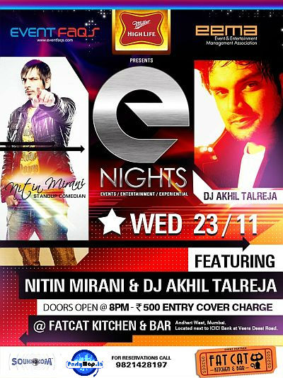 DJ Akhil Talreja at Fat Cat Cafe on 23rd Nov
