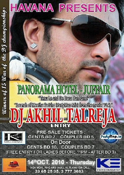 DJ Akhil Talreja at Havana, Bahrain on 16th October 2010