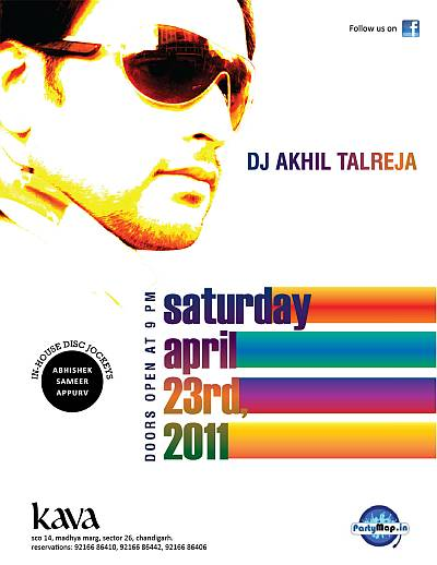 DJ Akhil Talreja at Kava, Chandigarh on 23rd April'11