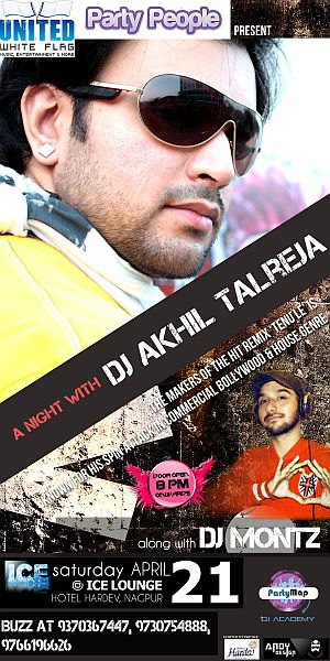 DJ Akhil Talreja at Ice Lounge in Nagpur in April'12