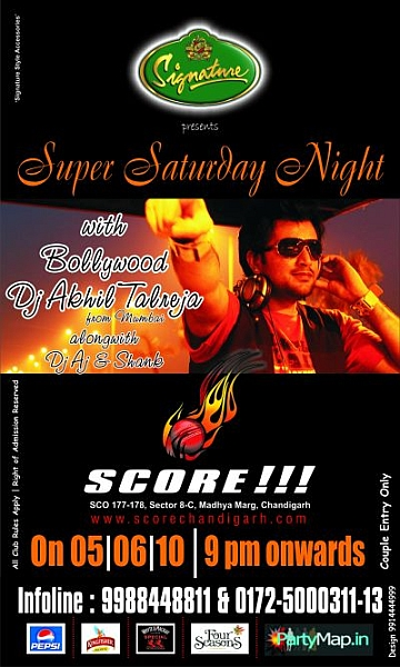 DJ Akhil Talreja at Score on 5th June 2010