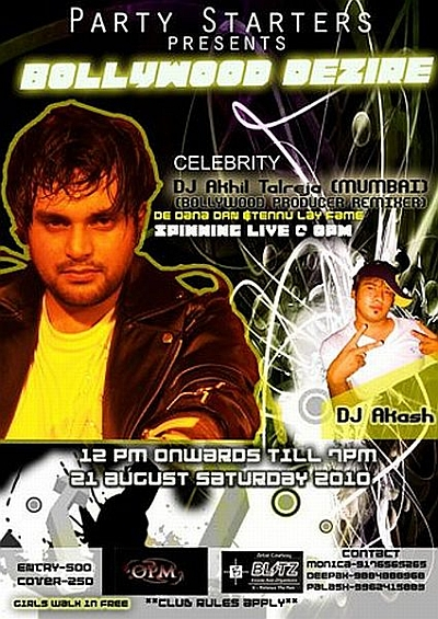DJ Akhil Talreja at OPM Chennai on 21st August 2010