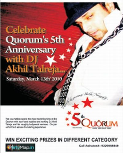DJ Akhil Talreja at Quorum on March 13th 2010